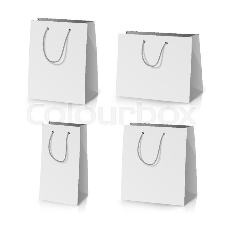 The high quality psd file is easy to edit via smart objects: Blank Paper Bag Template Vector 3d Stock Vector Colourbox