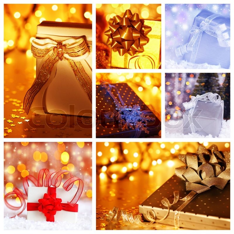 Winter Holidays Concept Collage With Collection Of