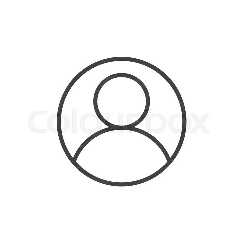 User account avatar line icon, outline vector sign, linear