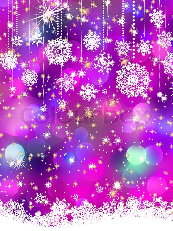 Winter Wonderland Iphone Wallpaper Colorful Background With Snowflakes Stock Vector