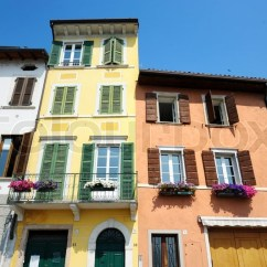 Reclining Chairs Modern Hanging Pod Australia Colorful Houses In Italy | Stock Photo Colourbox