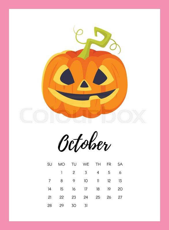 Fall Pumpkin Background Wallpaper Vector Cartoon Style Illustration Of Stock Vector