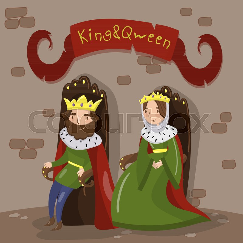 King And Queen Crowns Cartoon