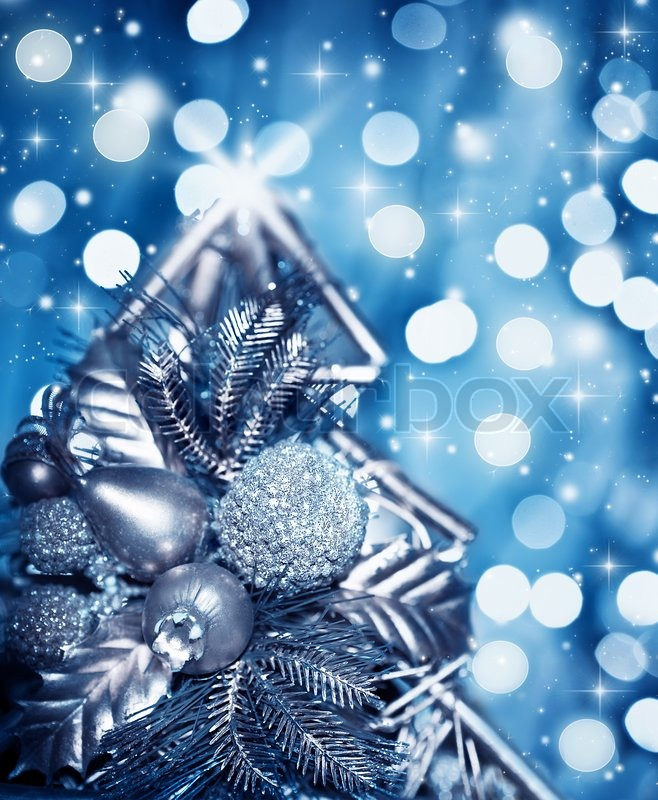 And Holiday Blue Silver Backgrounds