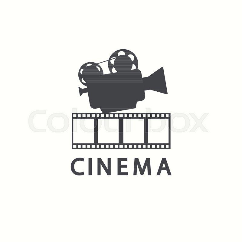 Cinema logo. Vector movie emblem template, isolated on