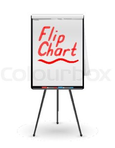 Flip chart vector office whiteboard for business training blank sheet of paper on  tripod presentation stand board white clean epty also rh colourbox