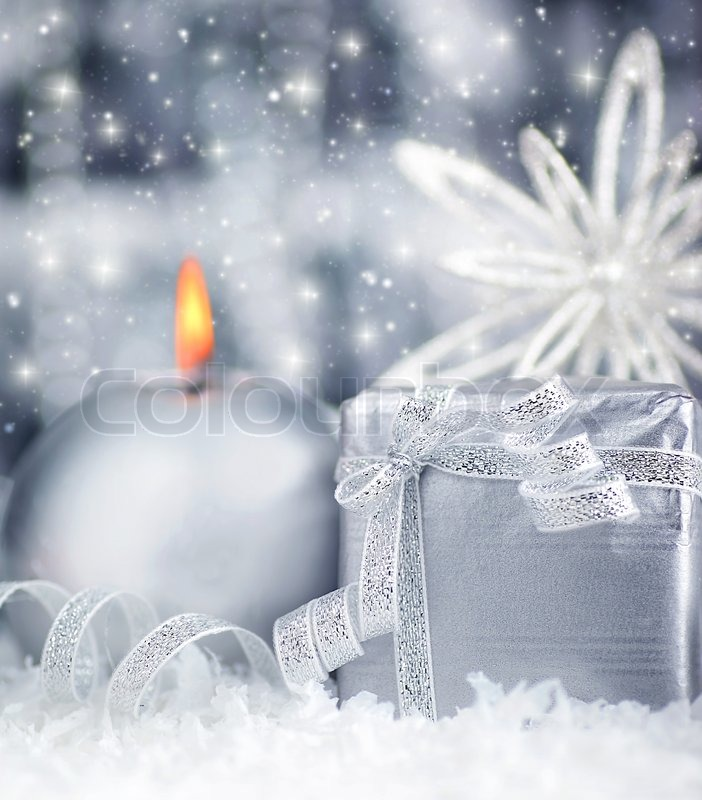 Zen Iphone 6 Wallpaper Winter Holiday Background With Silver Present Gift Box