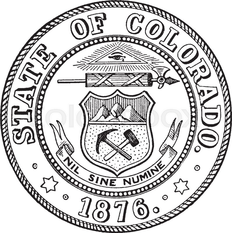 The state seal of Colorado, this circle shape seal shows