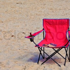 Pink Beach Chair Ikea Velcro Covers A With Book And Stock Photo Colourbox