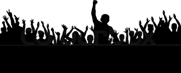 Applause of the crowd of people Stock vector Colourbox