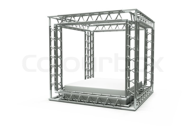 A center stage with metal frame, put your object in the