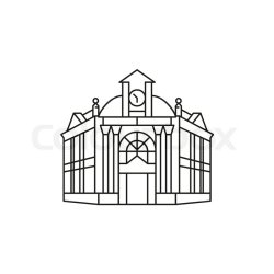 Town hall icon Outline town hall Stock vector Colourbox