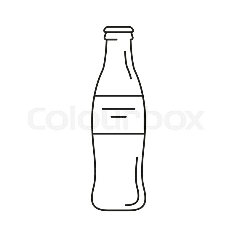 cola bottle icon outline