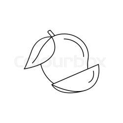 Mango icon Outline mango vector icon Stock vector Colourbox