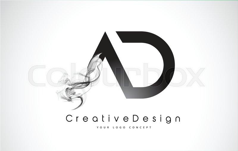 ad letter logo design
