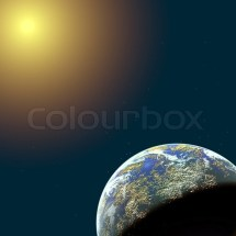Spase And Planet Illustration Stock Colourbox