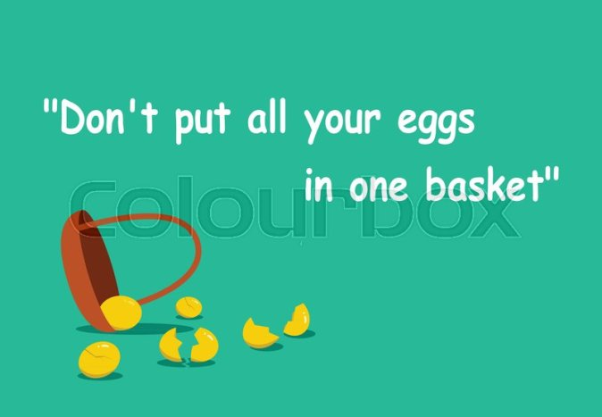 Don't put all your eggs in one basket ... | Stock vector | Colourbox
