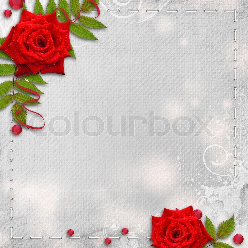 Karte fr Glckwunsch oder Einladung   Stockfoto