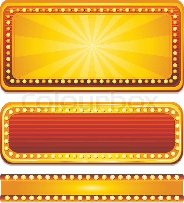 golden casino banner sign