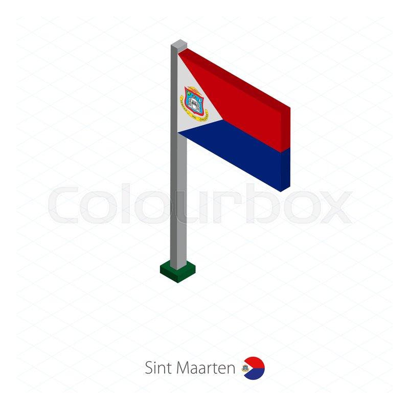 sint maarten flag on