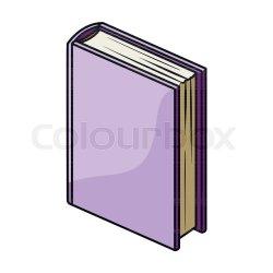 Purple standing book icon in cartoon Stock vector Colourbox
