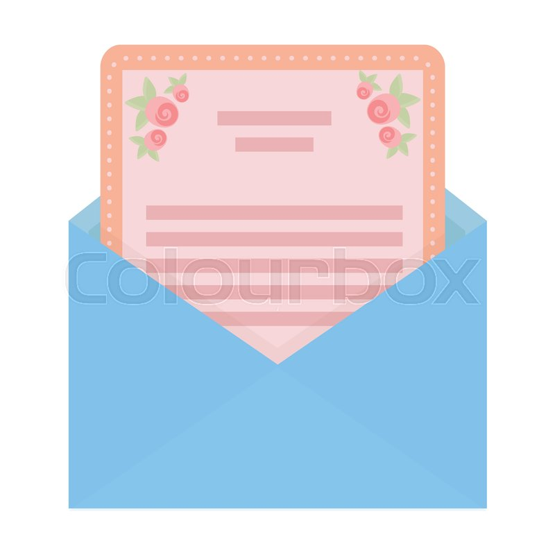 envelope with invitation card icon in