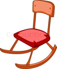 Cartoon Home Furniture Chair Isolated on White Background ...