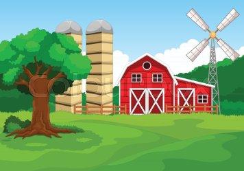 farm cartoon vector