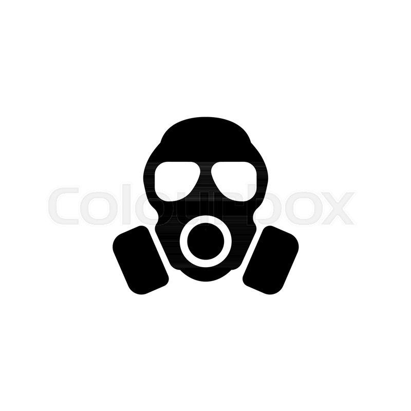 respirator gas mask flat