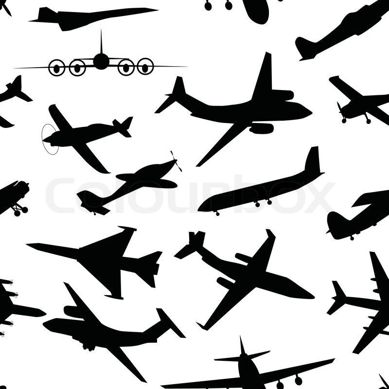 Aircraft, airplane, plane flying vector seamless travel