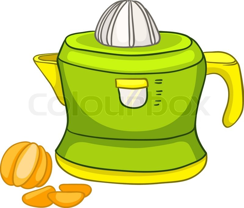 Cartoon Home Kitchen Juicer Isolated   Stock Vector