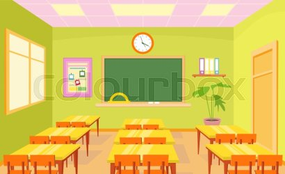 Vector illustration of empty school Stock vector Colourbox