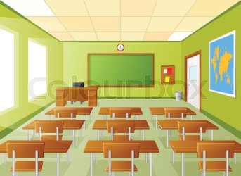 Illustration of Empty school classroom Stock vector Colourbox