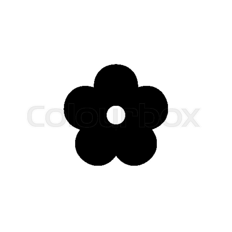 flower icon black floret