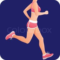 Fitness girl sportswoman female Stock vector Colourbox