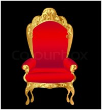 Old chair red with gold ornament on black | Stock Vector ...