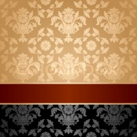 Seamless pattern, floral decorative background, maroon ...
