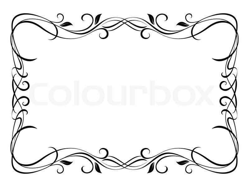 Vector floral ornamentalen dekorativen Rahmen