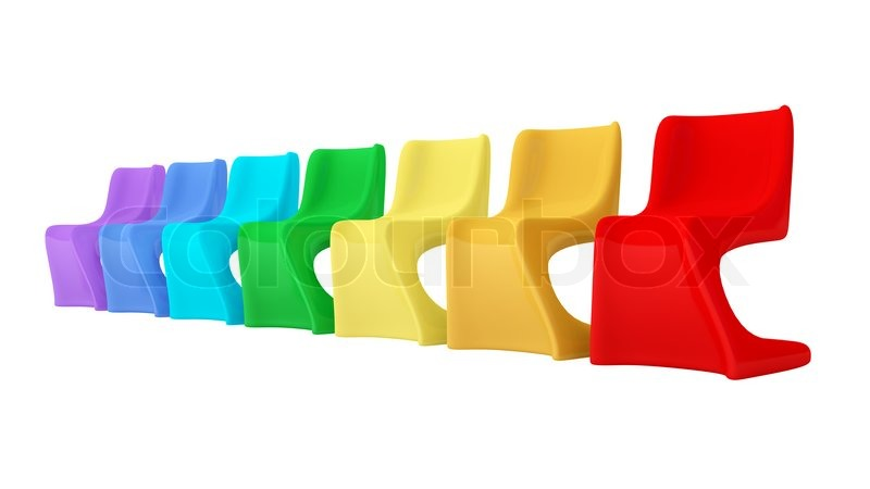 modern orange chair cafe chairs colorful plastic | stock photo colourbox
