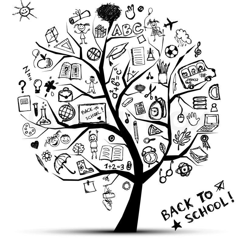 Baum der Erkenntnis , Konzept der Schule für Ihr Design