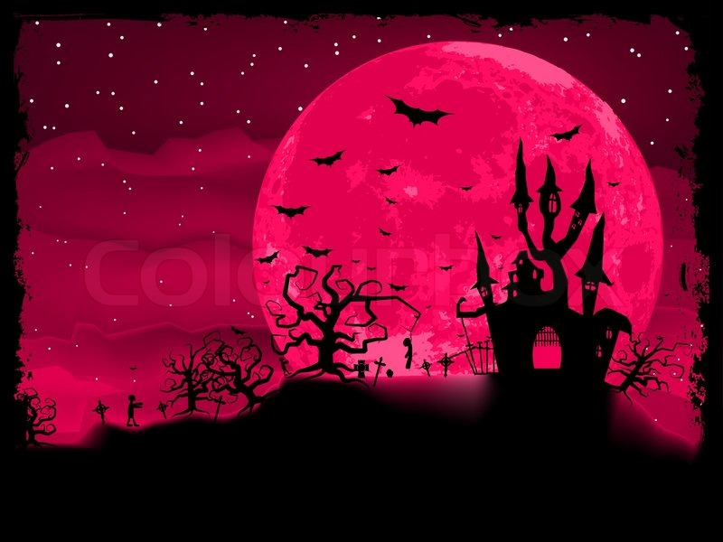 Fall Graveyard Cemetery Wallpaper Halloween Poster With Zombie Background Eps 8 Stock