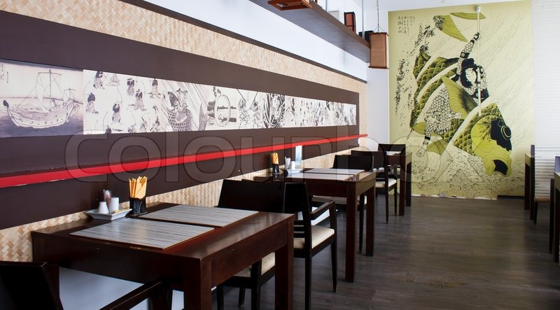 Japanese Restaurant Interior Stock Photo Colourbox