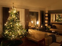Christmas tree in modern living room | Stock Photo | Colourbox
