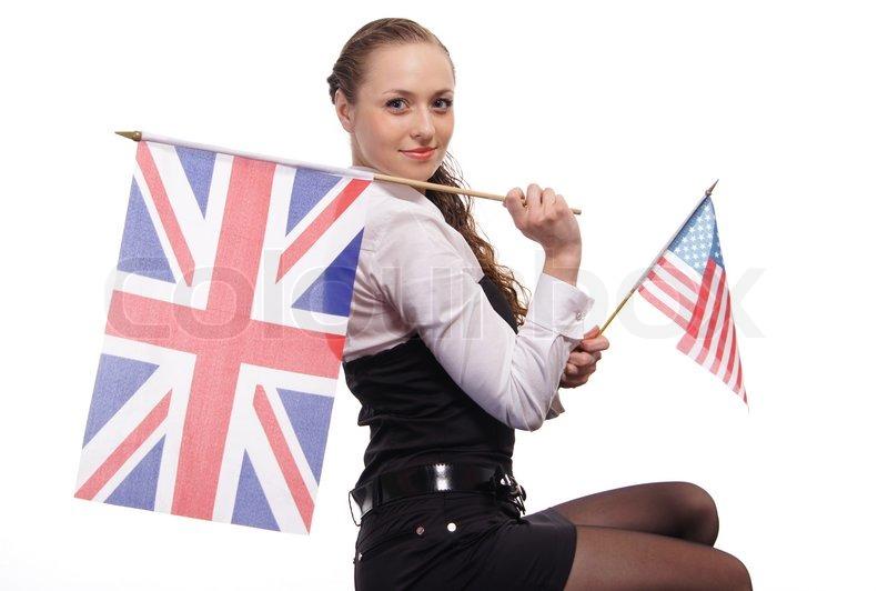 Cute Englisch Mdchen  Stockfoto  Colourbox