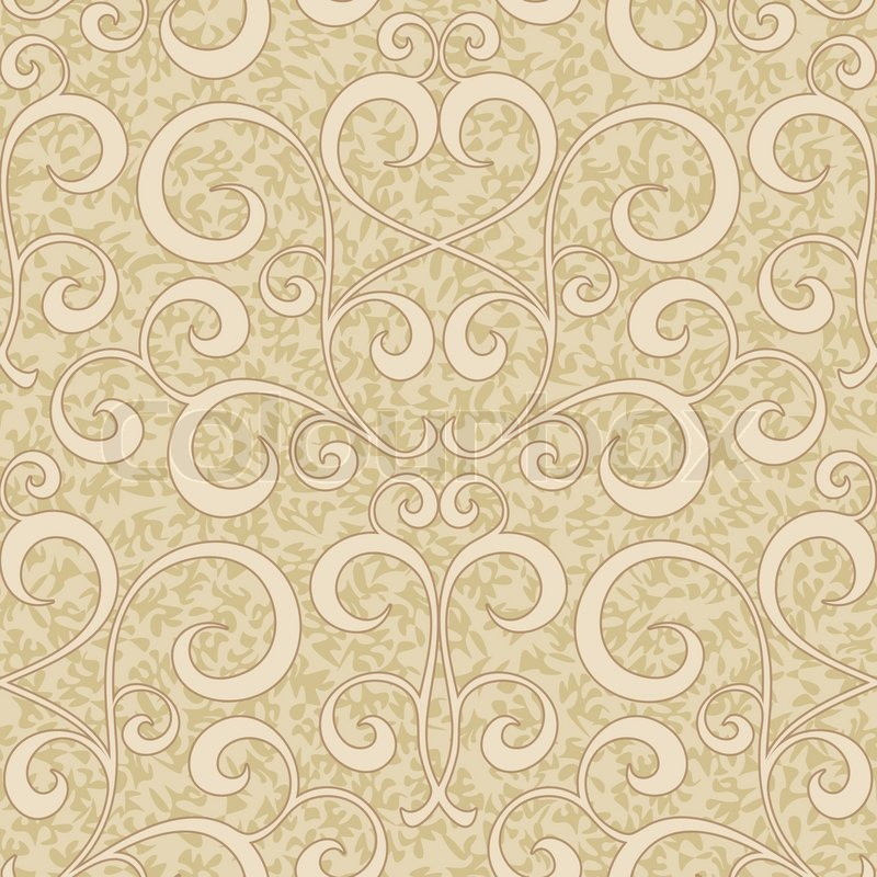Beige Pattern Wallpaper