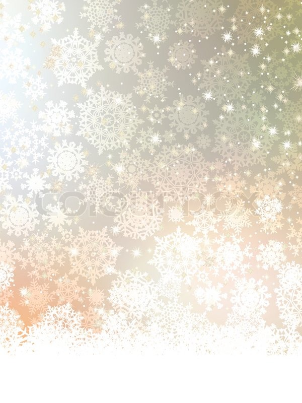 Christmas Template With Snowflake EPS 8 Stock Vector