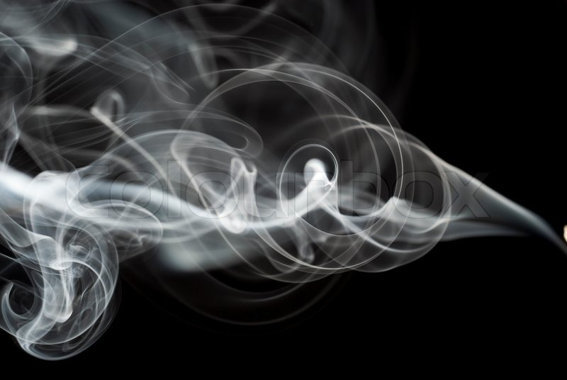 Falling Weed Wallpaper Abstract Black Smoke Swirls Over The Black Background
