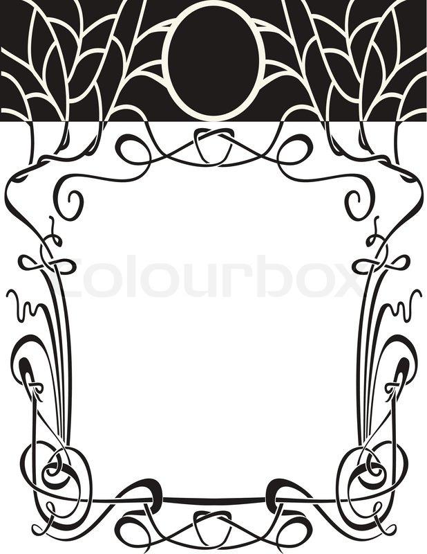 Art Nouveau Border Vector