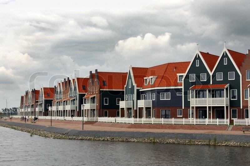 Fischerdorf Volendam Holland  Stockfoto  Colourbox