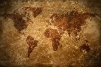 Agedvintage world map texture and background | Stock Photo ...